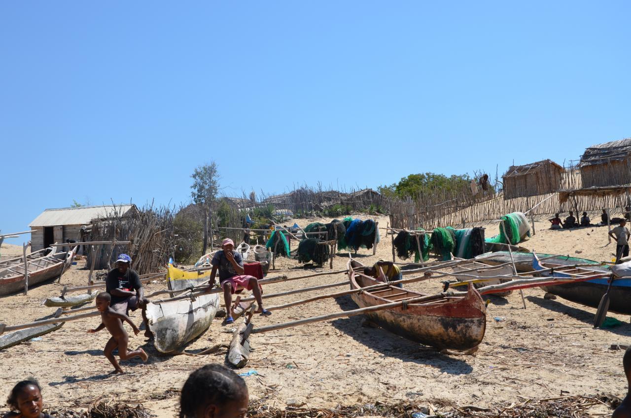 Village de pêcheurs a Ifaty , Sud de Madagascar