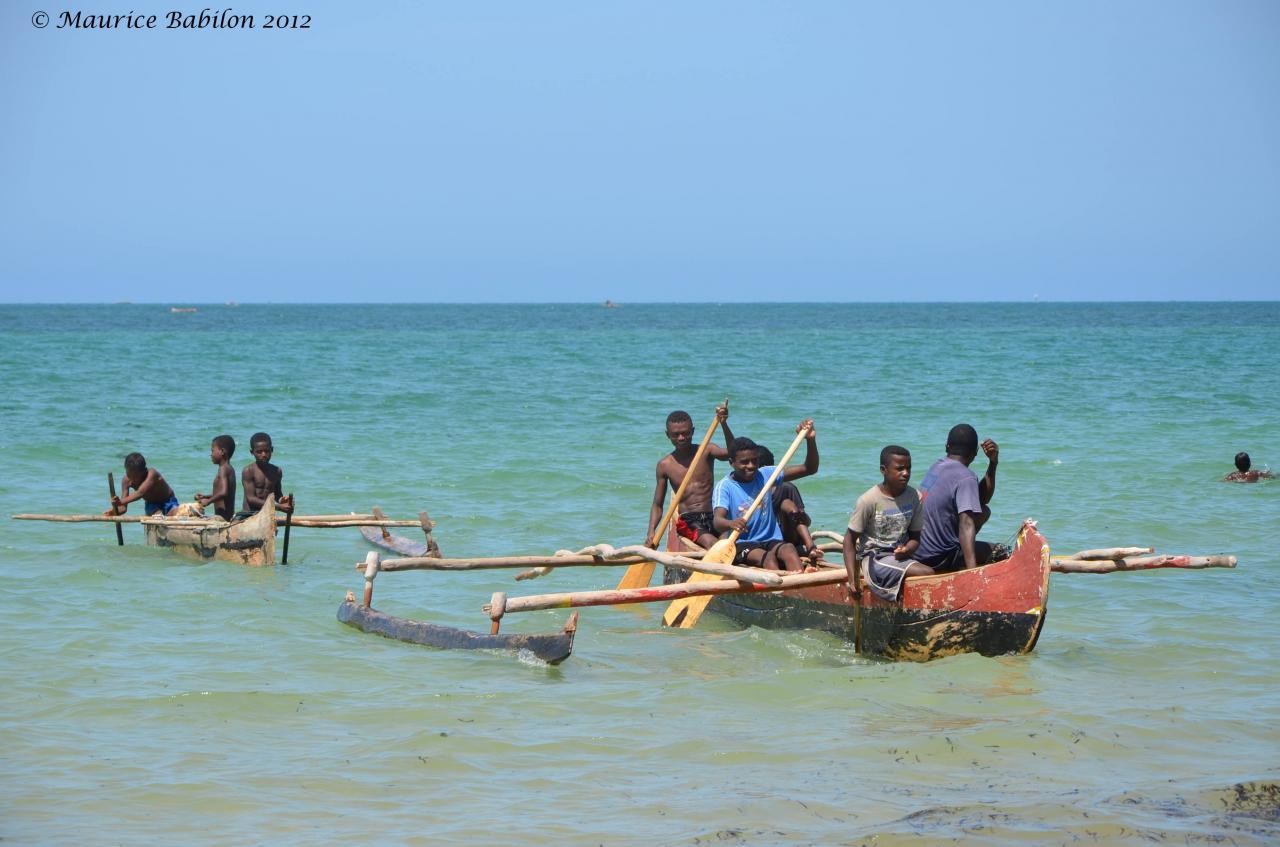 Region d'Ifaty , canal du Mozambique sud de Madagascar