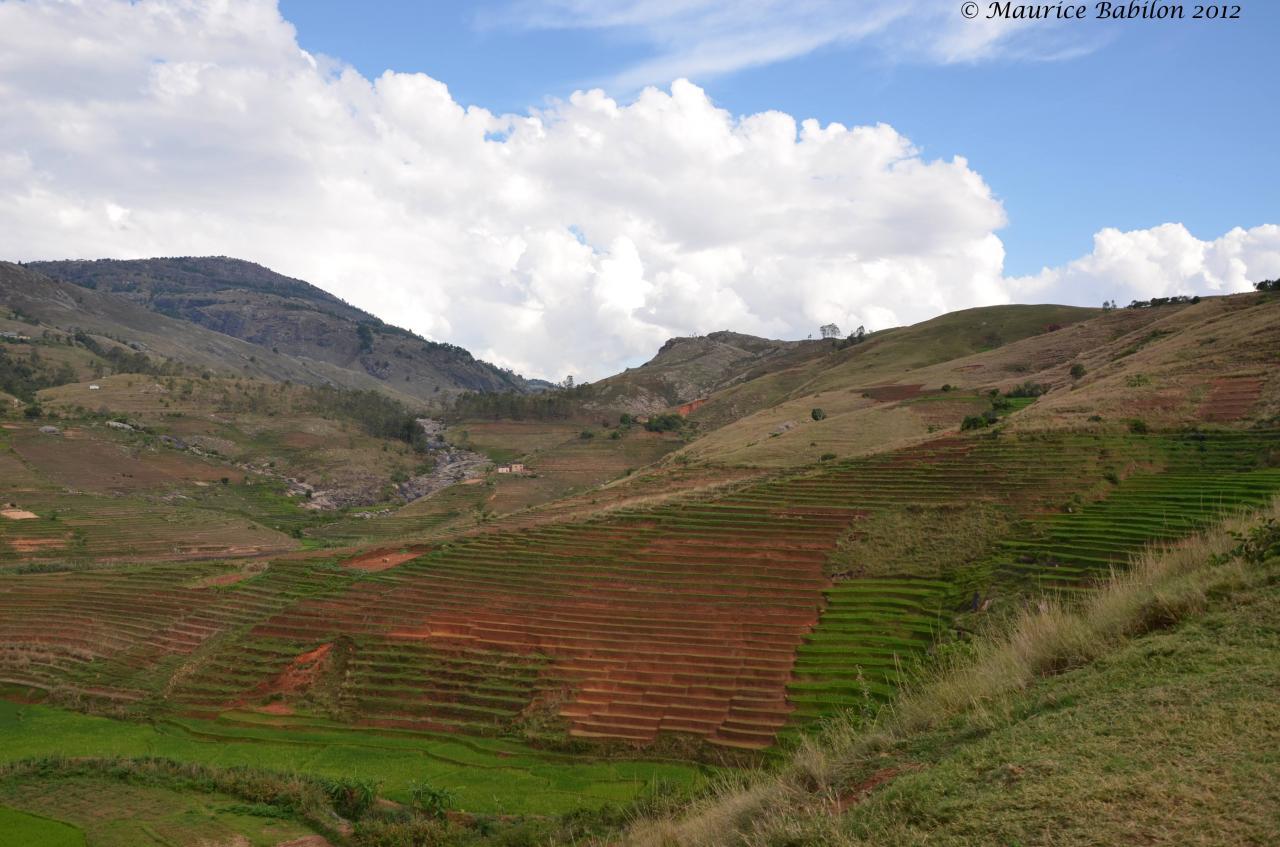 Sur la route vers la ville de Fianarantsoa , nationale 7