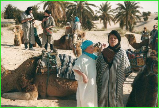 Dans les dunes du Sud Tunisien 1999