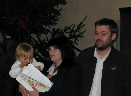 Regis son Papa , Audrey sa Maman et le petit Louis